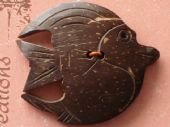 Coconut Shell Fish Button